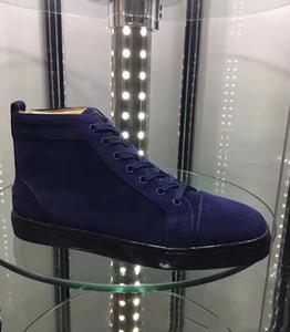 Новые мужские женские красные нижние туфли черная замшевая кожа с щепкой Шипы Toe Back hi-Top кроссовки, дизайнерский бренд Шипы Toe Повседневная обувь 35-47