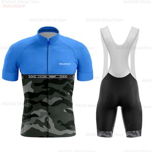 2020 Bisiklet Jerse Pro Takım camuflaje Bisiklet Giyim Bisiklet Önlüğü Şort Yaz MEN Bisiklet Kazağı Seti Ropa Ciclismo