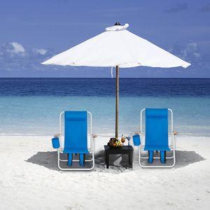 Pieghevole da esterno Pieghevole Spiaggia Sun Patio Chaise Lounge Chair Sedia Piscina Lasetta con poggiatesta regolabile Blu