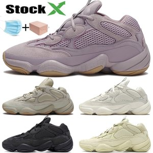 ayakkabılar erkekler kadınlar kaliteli tasarımcı spor ayakkabıları çalışan kanye batı çöl sıçan 500 Yumuşak Vizyon taş kemik beyaz allık yarar siyah tuz