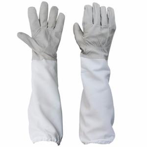1 paire de gants de protection avec manches ventilé Professional Anti Bee pour Apiculture Apiculteur