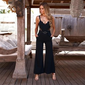 2020 summer new arrives female Sexy V-neck strapless back jumpsuit women rompers free shipping hot sale