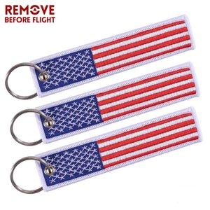 5 PCS / LOT US Flag portachiavi per Moto Scooter Macchine e patriottica con la bandiera regalo portachiavi American Mobile Phone Strap