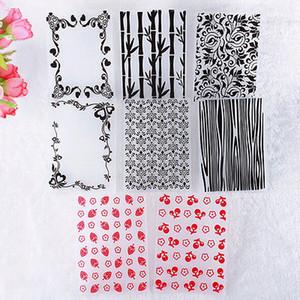 Tarjeta adorable álbum nuevo de plástico en relieve Carpeta plantilla del libro de recuerdos de Papercraft
