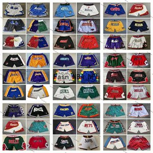 2020 Authentic Stitched Mens Just Don Pocket Shorts New Hip-hop Stitched All City Team Name & Year Id Tags Just Don Pocket Basketball Shorts
