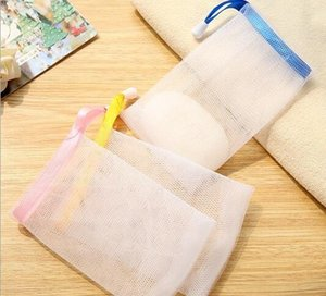Handmade Soap Bubble Foaming Net randomly color Cleansing Cream Cleansing Soap Wash Soap Bubble Bag Net Bag Bath bag