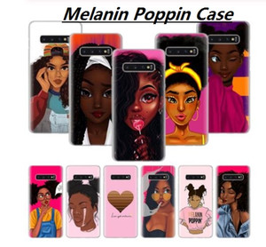 Black girl magic melanin poppin phone cases für samsung galaxy s8 s9 s10 plus s10e m10 m20 s6 s7 edge note 8 9 weiche tpu silikon case cover