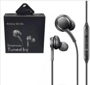 Com Retail caixa de 3,5 milímetros auscultadores auriculares Para Samsung S7 S8 borda S8 + Galaxy Headphone Em Ear Headset com Mic Volume Control EO-IG955