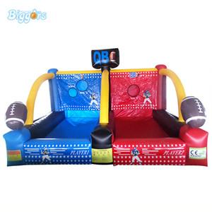 Высокий Qulaity Открытого красного синего надувного Dart футбол Хооп Карнавал игра Баскетбол Хооп для двойных игроков