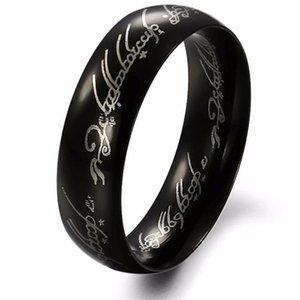 Edelstahlringe Film Der Eine Ring Titan Edelstahl Gold Ring 6 MM Hochzeit Herren Fingerringe