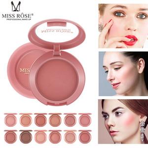 Miss Rose 12 colores cara al horno mejilla Kit ruboriza paleta desnuda Rose Polvos Minerales colorete maquillaje 60pcs Natural Bronceador colorete cosméticos