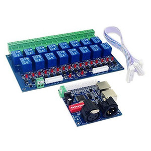 Freeshipping 16 Channel DMX Controller Relay Switch Dimmer Kit 16 Way Relay Switch DJ Equipment