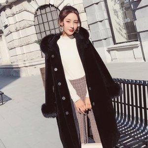 Sheep Real Shearing Fur Winter Coat Women Oversize Casual Womens Clothing Abrigos Mujer Invierno 2020 2898 YY709