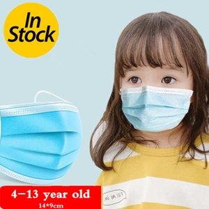 Layers 50pc lot Kids Disposable 3 Face Mask Dustproof Mouth Mask Facial Protective Cover Masks Anti-dust Safety Mask In Stock