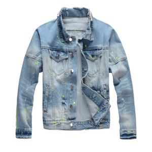 19FW Herren Stylist Jeansjacken Hip Hop Männer Frauen Retro Jacke Blau Schwarz-Mode-Männer Oberbekleidung