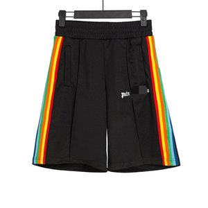 Beauty tide PALM color stripe webbing pants ANGELS PA leisure sports loose beach five-point pants shorts men and women