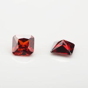 Размер 5x5 ~ 10x10mm 5A Гранат Цвет Octangle Форма Цирконий камень CZ Синтетические камни для продажи