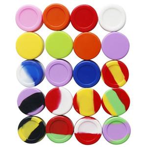 5ML кремния Контейнер Воск Jar Коробка для хранения многоцветный Concentrate Box Food Grade Silicon Испаритель Oil Tool DHL EMS Freeshipping