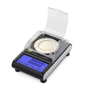 Backlight 50g x 0.001g tela eletrônica LCD touch Scale Digital Jóias balanceador de ouro diamante Gram Escala Com Horizontal