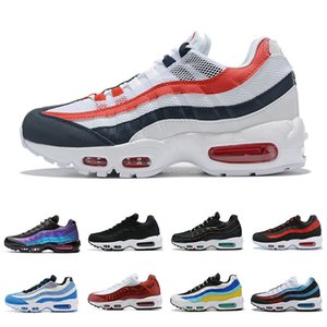 air max 95 airmax 95 Cheap Gym Red 95 OG Mens Womens Running Shoes University Gold Bred Laser Fuchsia Gradient White Blue Classic Black Sports Sneakers 36-46