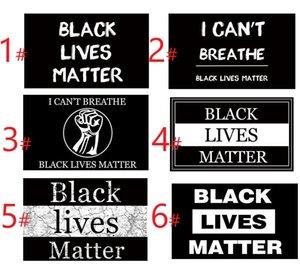 6 Arten 3x5 FT Außen Folienbanner- Schwarz Lives Matter Flag Garden House Wohnkultur alle Menschen gleich Ich kann nicht Protest Slogan Atmen
