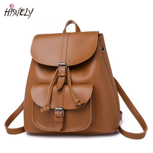 Viagem Mochila de alta qualidade saco de escola HISUELY Moda Bohemia Mulheres Shoulder Bag PU couro para menina Sac a Dos Feminina BG911B