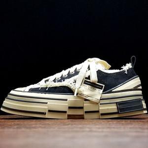 XVessel para mujer para hombre Zapatillas de lona de alta calidad Diseñador de moda de lujo Negro Blanco Rosa Vaso Tripe S Peace by Piece Speed Zapatos atléticos