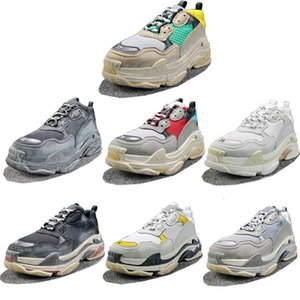 Triple s Luxus Designer Casual 17FW Low Old Dad Sneaker Kombination Sohlen Stiefel Herren Damen Mode Schuhe Size5-11 Keine Box