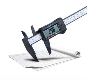 Micrómetro electrónico de la herramienta de medición de calibrador digital de 150 mm de 60 pulgadas con una característica de auto-apagado de la pantalla LCD grande