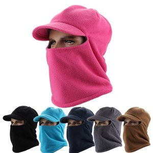 Outdoor Winter Masks Thicker Fleece Barakra Warm Hat Cycling Caps Motorcycle Skiing Sport Windproof Cap Tactical Mask Hat DH0348