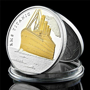 1 oncia di argento placcato oro Moneta Commemorativa 100 ° Anniversario anni RMS Titanic Ship Incident Collection Souvenir Coin