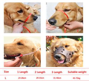 Ayarlanabilir Pet Koruyucu Ağız Kapak Köpek Karşıtı Isırma Maske Anti Bark PU Nefes Yumuşak Ağız Namlu Bakım Durak Boyutu L DBC DH0979-3 Chew