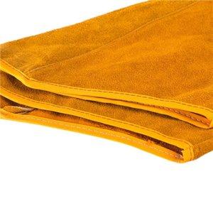 2pcs imitação de couro 21,6 polegadas Welding luvas protetoras Arm Calor luva Ferramenta Outros Organização Housekeeping