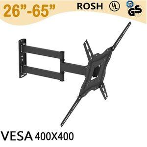 26-55 inç Duvara Montaj Braketi Dönebilen Ayarlanabilir -5 ~ 15 Derece TV Standı Swive Uzatma Ruh Seviyesi Ile Döndürülebilir