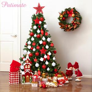 PATIMATE Пластиковые Рождественская Елка Подвеска Новогоднее Украшение Для Дома Xmas Tree Украшение Партии Украшения Navidad 2019