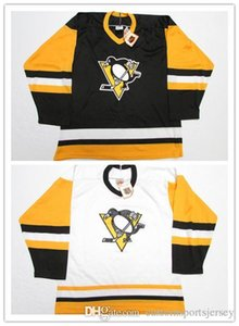 Cheap custom PITTSBURGH PENGUINS VINTAGE CCM HOCKEY JERSEY stitch add any number any name Mens Hockey Jersey XS-5XL