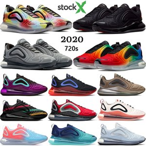 Новые 720s мужчины женщины кроссовки Tie Dye фиолетовый Aurora тройной черный белый истинными малиновый гонщик синие мужские кроссовки США 5.5-11