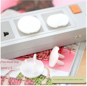 Baby electric shock safety cover San Xiang two phases Baby electric shock socket protection safety socket protection cover San Xiang two pha