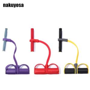 2 tubos Abdominales Rally Yoga vendas de la resistencia del pedal del pie Rally de cintura fina de reducción de peso abdominal Home Fitness Equipment