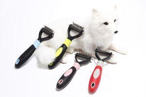 Pet Grooming Kamm Tool 2 Sided Vorst Rake für Hunde Katzen Sicher Dematting Pet Supplies Kamm-Haar-Remover