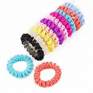 Telefon-Draht-Schnur-Stirnband für Frauen 5.5cm elastischen Kunststoff-Haar-Bänder Gummi Seile Haar-Ring-Haar-Accessoires D62801