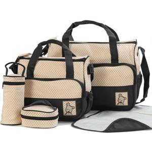 2019 Nova 5pc chegada do bebê Mudar a Fralda Fralda Bag Plush Bag Mãe Bolsa multifuncionais Bags Set Atacado Dropshipping Hot
