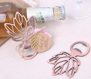 Maple Leaf Beer Bottle Opener Copper Sheet Bottle Opener Wedding Souvenir Openers Wedding Gift Favors Giveaways SN1248