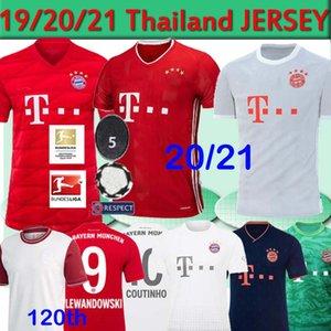 Bayern Munich Coutinho camiseta de fútbol 19 20 21 Lewandowski MULLER HERNANDEZ camiseta de fútbol de los hombres de los niños 120o 120 años MUNCHEN 2020 2021 tailandés