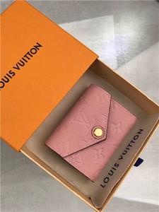 Heiße Frauen Portemonnaie Designer Luxus-Tasche Geldbörse aus echtem Leder-Kartenhalter Luft Stern 7264991 M62936 LOU Serie Größe 9.5x7.5x3cm mit Box