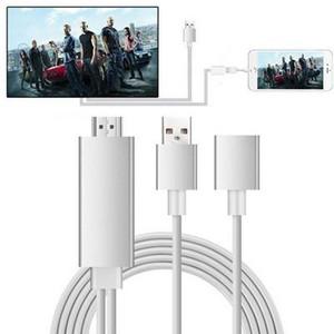 20шт Кабель HDMI HDTV адаптер AV-кабель 8 Pin / Micro USB к HDMI 1080P для iPhone 5 6 S Plus для Samsung Android