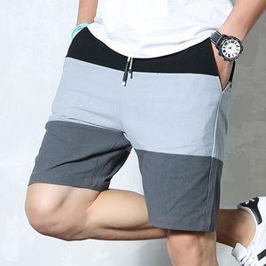 Varsanol Compression Shorts Hommes Shorts d'été pour hommes Coton Casual Homme Vêtements à rayures Bermuda Masculina 4XL