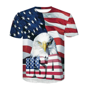 3D جديدة علم الولايات المتحدة الأمريكية التي شيرت رجال / نساء مثير تي شيرت طباعة مخطط العلم الأميركي الرجال التي شيرت الصيف بلايز تيز