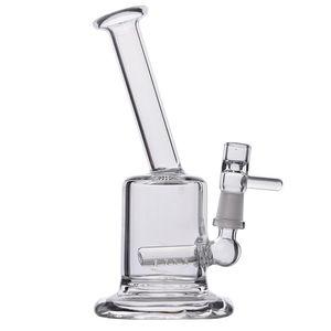 مصغرة بونغ منصات الزجاج السميك إعادة تدوير النفط بونغ التدخين الزجاج أنابيب المياه الزجاج النرجيلات 10 مشترك شحن مجاني 6 ''