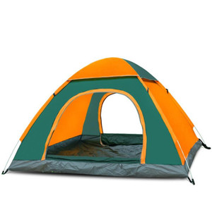 Outdoor camping folding automatic tent 3-4 people beach simple speed open double factory wholesale Tents and Shelters